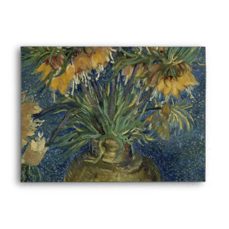 Imperial Fritillaries in Copper Vase by Van Gogh Envelopes