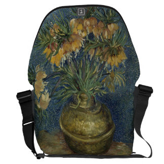 Imperial Fritillaries in Copper Vase by Van Gogh Courier Bags