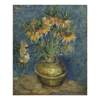 Imperial Fritillaries in Copper Vase by Van Gogh Photographic Print