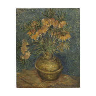 Imperial Fritillaries in Copper Vase by Van Gogh Wood Canvases