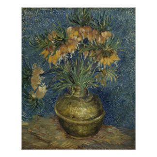Imperial Fritillaries in Copper Vase by Van Gogh Perfect Poster