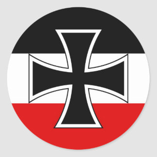 Imperial German Flag Classic Round Sticker