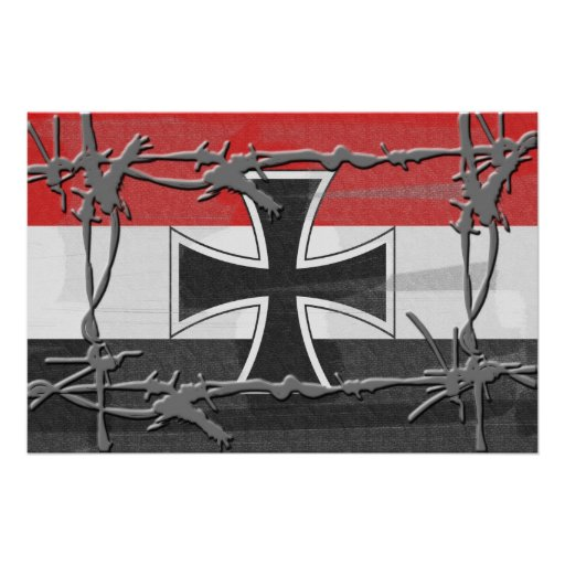 Imperial german flag poster print zazzle for Imperial printing