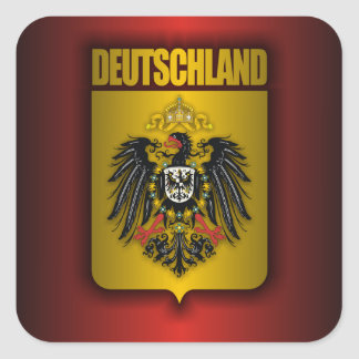 """Imperial German Steel"" Square Sticker"