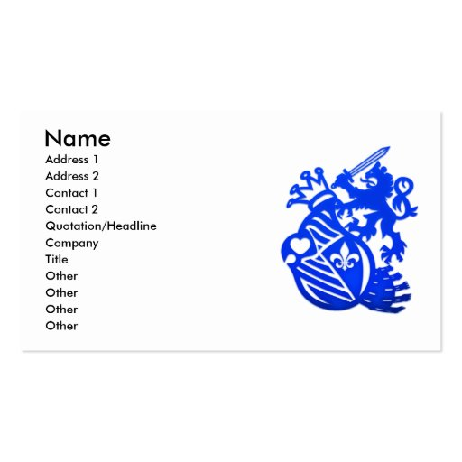 Imperial_Guard Double-Sided Standard Business Cards (Pack Of 100)