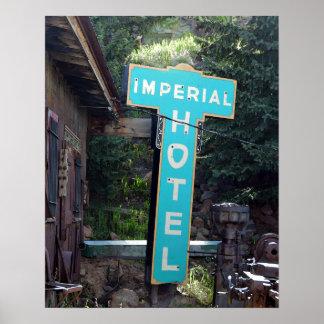 Imperial Hotel Sign, Cripple Creek, Colorado Poster