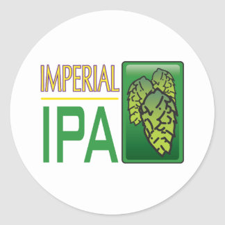 Imperial IPA Round Stickers