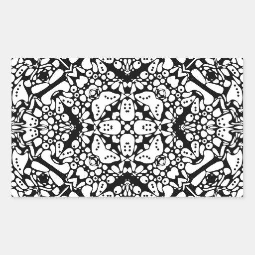 Imperial Kaleidoscope Rectangle Sticker