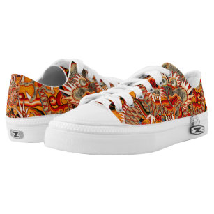 Imperial Ming Chinese Dragon Graphic Low Shoes 9cf4fa35d144