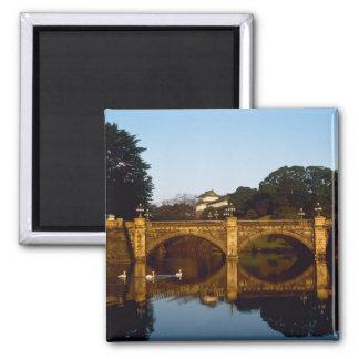 Imperial Palace, Nijubashi Bridge, Tokyo, Japan 2 Inch Square Magnet