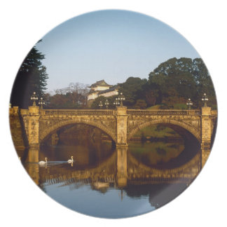 Imperial Palace, Nijubashi Bridge, Tokyo, Japan Melamine Plate