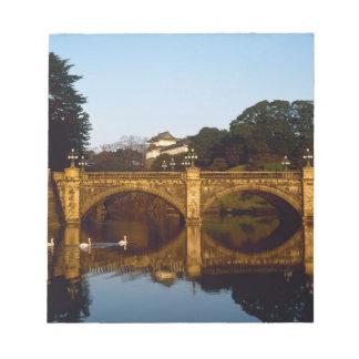 Imperial Palace, Nijubashi Bridge, Tokyo, Japan Note Pad