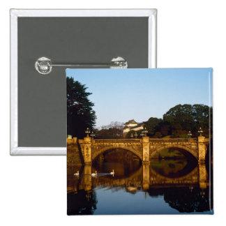 Imperial Palace, Nijubashi Bridge, Tokyo, Japan Pinback Button