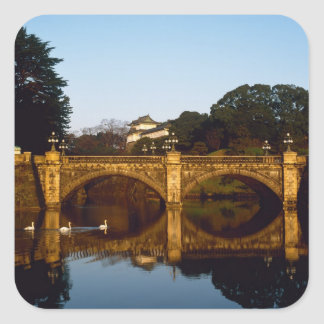 Imperial Palace, Nijubashi Bridge, Tokyo, Japan Square Sticker