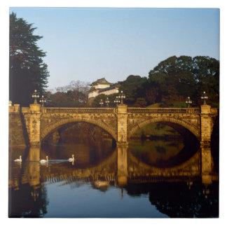 Imperial Palace, Nijubashi Bridge, Tokyo, Japan Tile