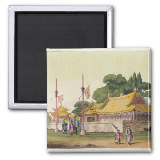 Imperial Palace, Tokyo, plate 54 from 'Le Costume 2 Inch Square Magnet