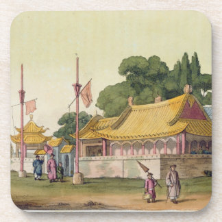 Imperial Palace, Tokyo, plate 54 from 'Le Costume Beverage Coaster