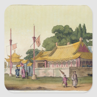 Imperial Palace, Tokyo, plate 54 from 'Le Costume Square Sticker