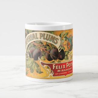 Imperial Plums Felix Potin Miramont VIntage Crate  Jumbo Mugs
