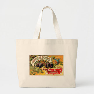 Imperial Plums Large Tote Bag