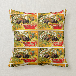 Imperial Plums Throw Pillows