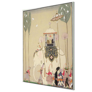 Imperial Procession (colour litho) Canvas Print