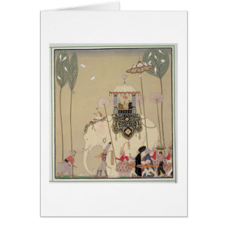 Imperial Procession (colour litho) Greeting Card