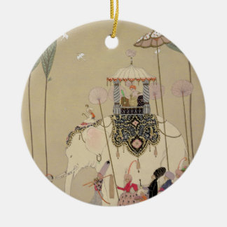 Imperial Procession (colour litho) Ceramic Ornament