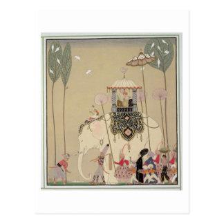 Imperial Procession (colour litho) Postcard