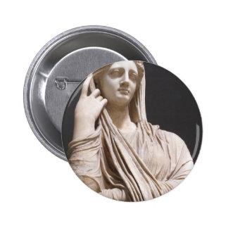 Imperial Roman women - statue Pinback Button