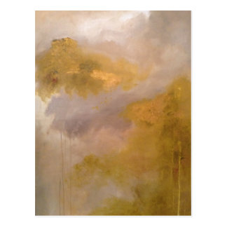 Imperial Topaz Abstract Painting Postcard