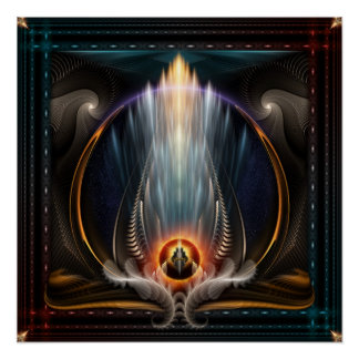 Imperial View Fractal Art Perfect Poster