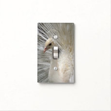 Imperial White Peacock Light Switch Cover