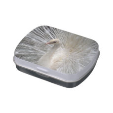 Imperial White Peafowl Candy Tins