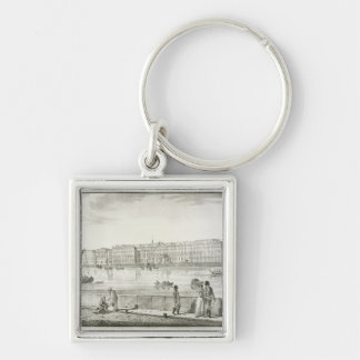 Imperial Winter Palace, St. Petersburg (litho) Key Chain