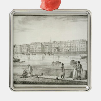 Imperial Winter Palace, St. Petersburg (litho) Metal Ornament