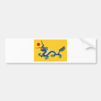 Imperial Yellow Dragon Flag, Qing Dynasty (China) Bumper Sticker