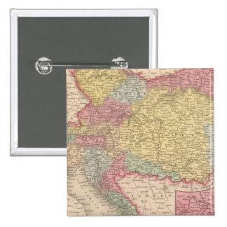 Imperio austríaco 3 pin cuadrada 5 cm