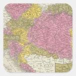 Imperio austríaco 4 pegatina cuadrada