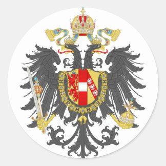 Imperio austríaco etiqueta redonda