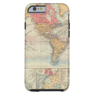 Imperio británico, rutas, corrientes funda para iPhone 6 tough
