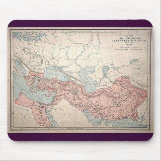 Imperio de Alexander el grande Alfombrillas De Ratón