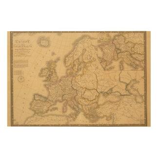 Imperio de Carlomagno Impresión En Madera