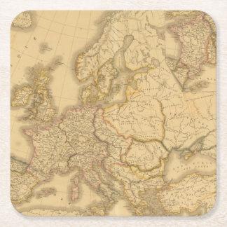 Imperio de Carlomagno Posavasos De Cartón Cuadrado
