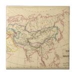 Imperio de los Mongols Azulejo Cuadrado Pequeño