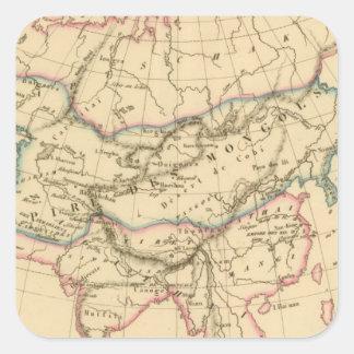 Imperio de los Mongols Pegatina Cuadrada