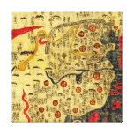 Imperio de Ming, ChinaPanoramic MapChina Impresión De Lienzo