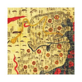 Imperio de Ming, ChinaPanoramic MapChina Impresión En Tela