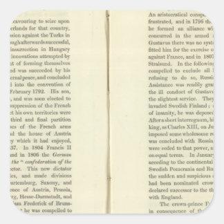 Imperio del ANUNCIO 1811 de Napoleon Bonaparte 4 Pegatina Cuadrada