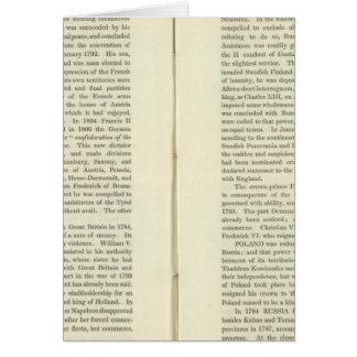 Imperio del ANUNCIO 1811 de Napoleon Bonaparte 4 Tarjeta De Felicitación